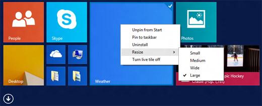 윈도 8.1 업데이트 1 주요 특징, 윈도 8.1 업데이트 1 달라진 점
