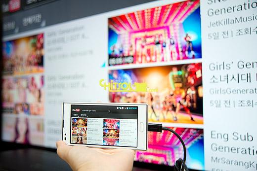 스마트TV,smart TV, 스마트폰을 TV에 연결, 태블릿을 TV에 연결, 유투브 TV에서 보기, TV에서 스마트폰 동영상 보기, MHL, 미라캐스트