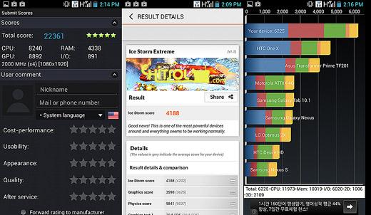 인텔 스마트폰의 성능, 인텔 스마트폰의 현주소, 인텔 스마트폰의 특징, 아톰 Z2580 벤치마크