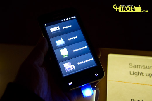 mwc2012 갤럭시빔 리뷰, 갤럭시빔 장단점